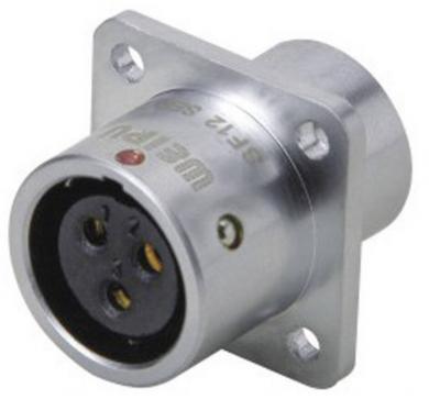 Conector mamă push-pull, 9 pini, 3 A, IP67, Weipu SF1213/S9