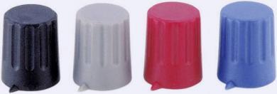 Buton cu indicator Strapubox, Ø ax 4 mm, gri