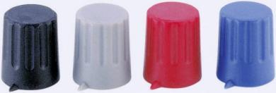 Buton cu indicator Strapubox, Ø ax 6 mm, 12/6 mm, gri