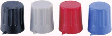 Buton cu indicator Strapubox, Ø ax 6 mm, 15/6 mm, gri
