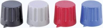 Buton cu indicator Strapubox, Ø ax 6 mm, 20/6 mm, albastru