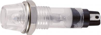 Lampă de semnalizare cu bec 24 V/AC tip B-403, Ø orificiu de montare 7 mm, transparent