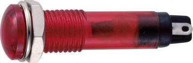 Lampă de semnalizare cu bec 12 V/AC tip B-405, Ø orificiu de montare 7 mm, roşu