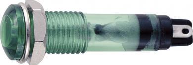 Lampă de semnalizare cu bec 12 V/AC tip B-405, Ø orificiu de montare 7 mm, verde
