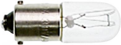 Bec incandescent pentru lampă de semnalizare, incolor, soclu BA9s, 110-130 V