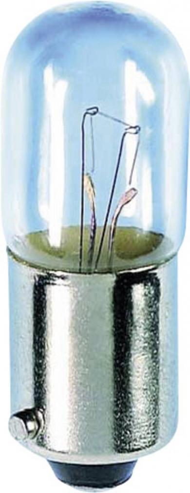 Mini-bec tubular, soclu BA9s, 6 V, 2 W, 10 x 28 mm
