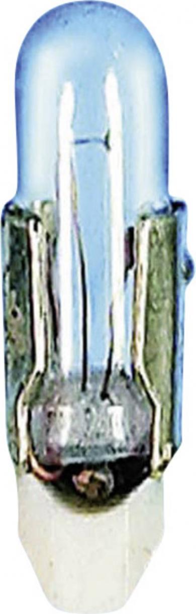 Bec incandescent pentru lampă de semnalizare, transparent, soclu T4.6, 12 V