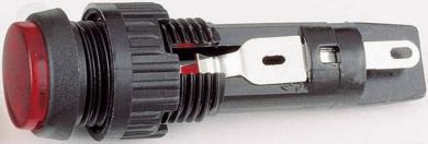 Lampă de semnalizare cu dulie şi lentilă RAFI, soclu T4.6, galben (transparent), 1 W