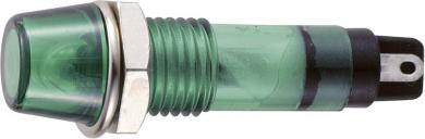Lampă de semnalizare cu bec 12 V/AC tip B-403, Ø orificiu de montare 7 mm, verde
