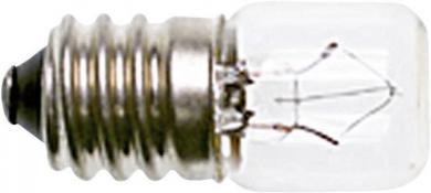 Bec incandescent pentru lampă de semnalizare, incolor, soclu E14, 220 - 260 V