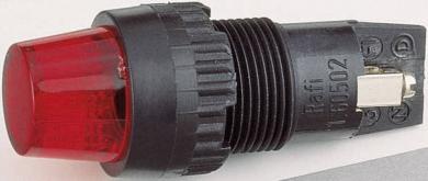 Lampă de semnalizare cu dulie şi lentilă RAFI, soclu E10, roşu (transparent), 2 W