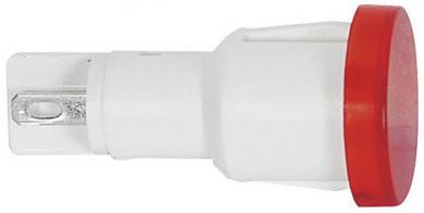 Lampă semnalizare RAFI cu bec, formă lentilă rotundă, 1,2 W, max. 28 V, roşu (transparent), sursă de lumină incandescentă