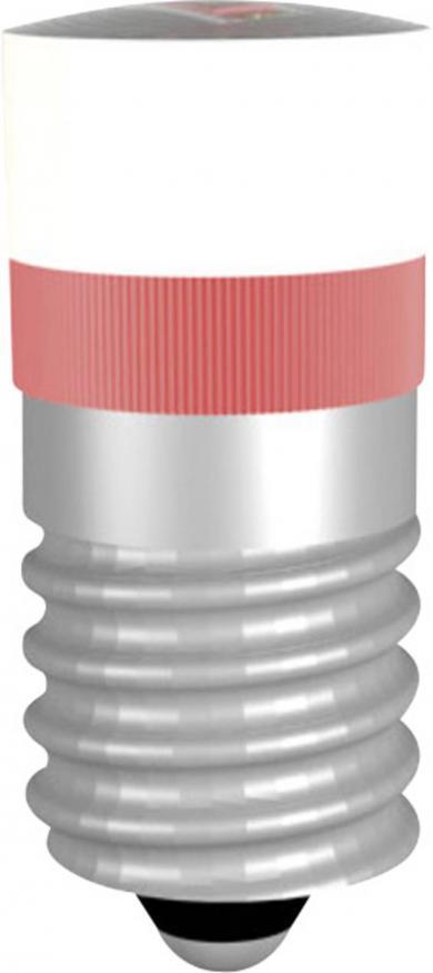 Lampă cu led Multi-Look, soclu E10, tip MWCE22049, roşu, 24-28 V DC/AC