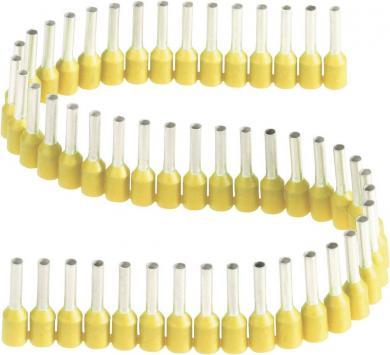 Inele de etanşare izolate cu guler din plastic, în formă de bandă, 1,0 mm² x 8 mm, galben, Vogt Verbindungstechnik