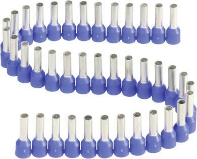 Inele de etanşare izolate cu guler din plastic, în formă de bandă, 2,5 mm² x 8 mm, albastru, Vogt Verbindungstechnik