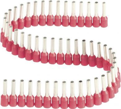 Inele de etanşare izolate cu guler din plastic, în formă de bandă, 1,0 mm² x 8 mm, roşu, Vogt Verbindungstechnik
