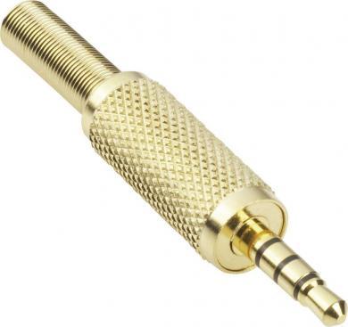 Jack 3,5 mm, mufă tată, drept, aurit, 1103057 BKL Electronic