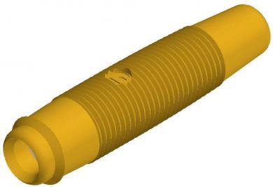 Mufă banană mamă Hirschmann KUN 30, 16 A, 4 mm, galben