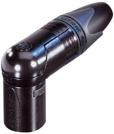 Conector XLR seria XX, tată, în unghi, 7 pini, culoare negru, suprafaţa de contact aur