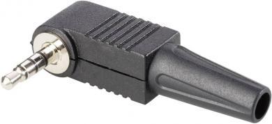 Jack 3,5 mm, mufă tată,  în unghi, protecţie la îndoire, 1107019 BKL Electronic