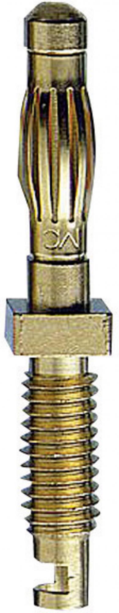 Mufă banană cu lamelă 22.1051, Ø pin 4 mm, 50 A, conexiune prin lipire
