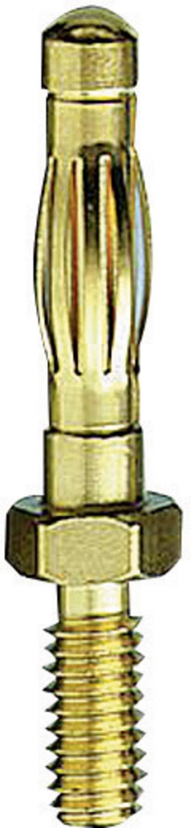 Mufă banană cu lamelă 22.1053, Ø pin 4 mm, 50 A, conexiune prin şurub
