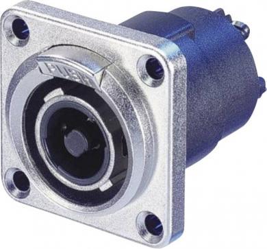 Conector metalic Speakon seria STX, 4 pini, tată, drept, conexiune prin lipire