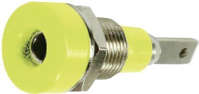 Soclu banană pentru montare MultiContact LB-I2R, verde-galben