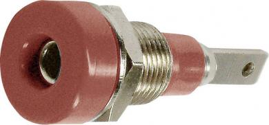 Soclu banană pentru montare MultiContact LB-I2R, roșu