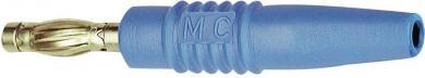 Mufă banană tată axială MultiContact SLS425-L, Ø ştift 4 mm, albastru