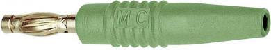 Mufă banană tată axială MultiContact SLS425-L, Ø ştift 4 mm, verde