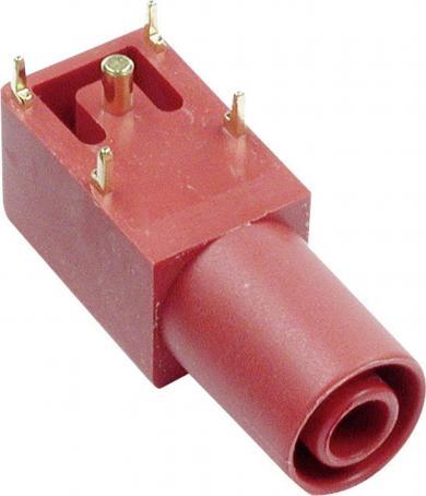 Soclu dreptunghiular Multi-Contact SLB 4-I/90, 24 A, 4 mm, conexiune prin lipire, roşu