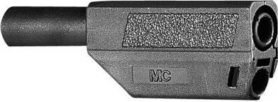 Mufă banană izolată Multi-Contact SLS425, 4 mm, 32 A la 2,5 mm², 1000 V, conector drept, material nichelat, negru