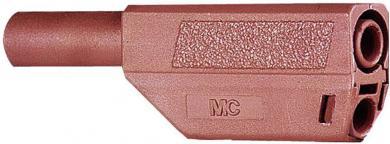 Mufă banană izolată Multi-Contact SLS425, 4 mm, 32 A la 2,5 mm², 1000 V, conector drept, material nichelat, roşu