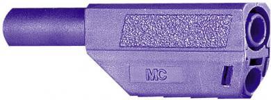 Mufă banană izolată Multi-Contact SLS425, 4 mm, 32 A la 2,5 mm², 1000 V, conector drept, material nichelat, violet