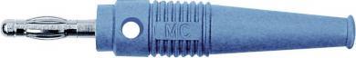 Mufă axială cu orificiu transversal MultiContact L-41Q, 4 mm, albastru