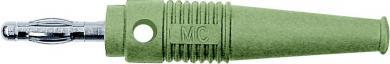 Mufă axială cu orificiu transversal MultiContact L-41Q, 4 mm, verde