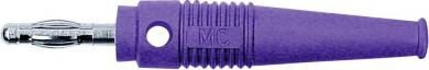 Mufă axială cu orificiu transversal MultiContact L-41Q, 4 mm, violet