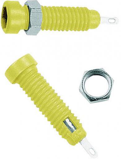 Soclu banană pentru montare MultiContact LB2-IF, 2 mm, galben