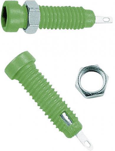 Soclu banană pentru montare MultiContact LB2-IF, 2 mm, verde
