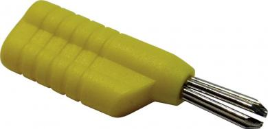 Mufă banană Schnepp N 4041 L, Ø știft 4 mm, galben