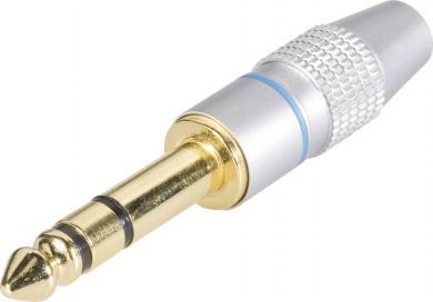 Conector jack 6,35 mm, mufă tată, stereo, drept