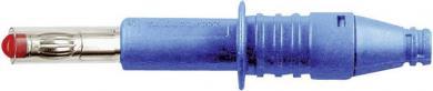 Mufă banană MultiContact X-GL-438, axial, 4 mm, albastru