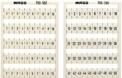 Plăcuţe inscripţionare, 61-70 orizontal, 4 - 4,2 mm
