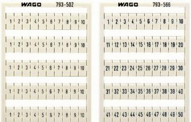 Plăcuţe inscripţionare, 71-80 orizontal, 4-4,2 mm