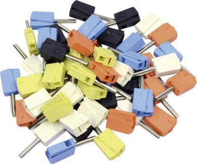 Conector rapid seria 215, Ø ştift 4 mm, WAGO 215-111, set 50 buc. diverse culori