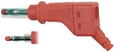 Mufă banană MultiContact XZGL-425, interconectabil, 4 mm, roșu