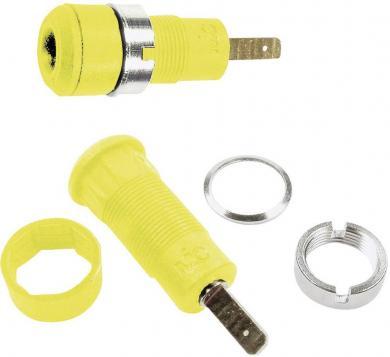 Soclu banană pentru montare MultiContact SLB2-F2,8 galben