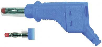 Mufă banană MultiContact XZGL-425, interconectabil, 4 mm, albastru