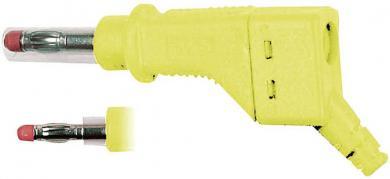 Mufă banană MultiContact XZGL-425, interconectabil, 4 mm, galben